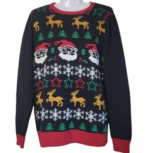 Ugly Christmas Sweater Party Knit Black R